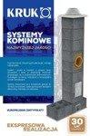 System kominowy KRUK UNIVERSAL 12M - bez wentylacji - trójnik 45°
