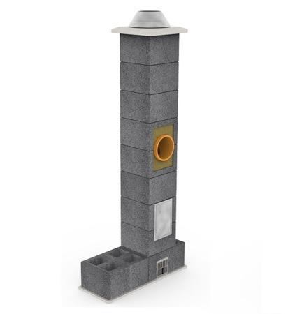 System kominowy KRUK UNIVERSAL 14M - poczwórna wentylacja - trójnik 45°