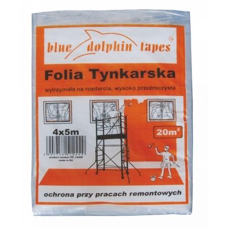 FOLIA TYNKARSKA MALARSKA BLUE DOLPHIN 4m x 5m 20m2